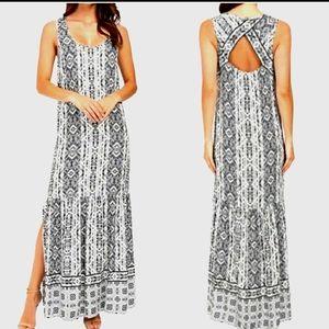 New SPLENDID Boho Taos Boarder Summer Maxi Dress